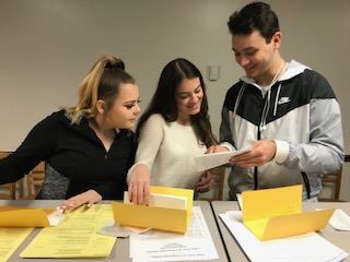 Seniors receive letters they wrote to themselves from sixth grade