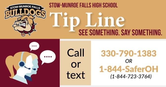 SMFHS Tip Line Information