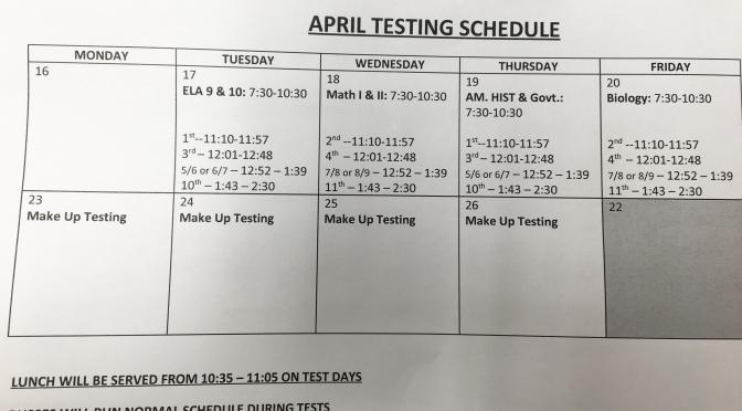 Students begin state tests this week